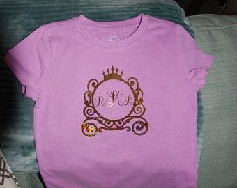 Customized Princess carriage t-shirt