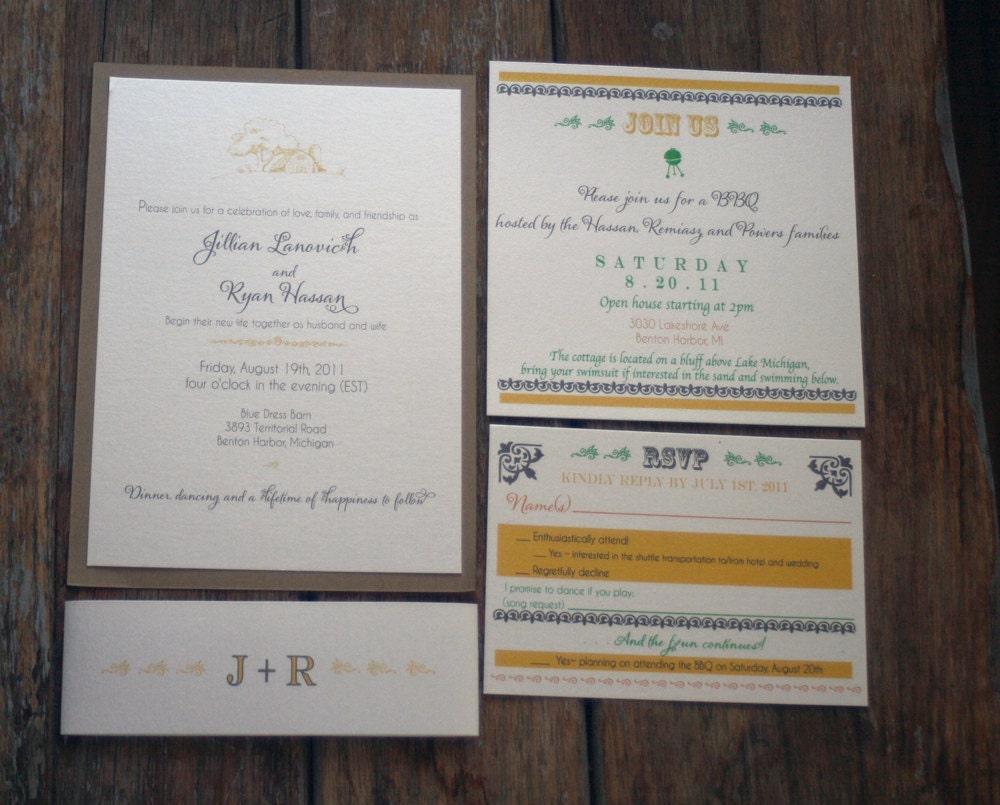Rustic Barn Wedding InvitationsCountry Chic Wedding