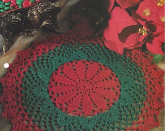 Holiday Splendor Crochet Doily Pattern, Christmas Decor, Lace Doilies, Holiday Decor, Table Topper, Centerpiece, House Of White Birches