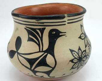 Native American, Santo Domingo Pottery Bowl, by Santana Melchor (1819-1978), Ca 1950, # 1295
