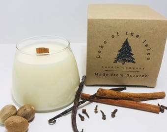 Made from Scratch Candle - wood wick candle, soy candle, gift candles, handmade candles, gift for her, gift ideas for moms, gifts for home