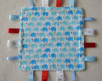 Blue Elephants Comforter with Tags