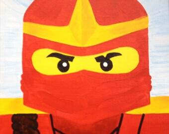 "Ninjago Kai - Red Ninja 8x10"" canvas panel wall art"