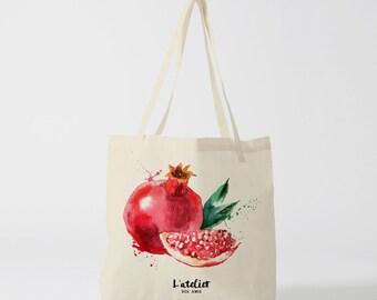 X44Y Tote bag granate bag for market, handbag, canvas tote bag, tote bag, bag watercolor, computer bag, diaper bag