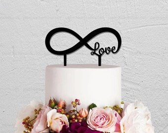 Wedding Cake Topper,Infinity Cake Topper,Custom Cake Topper,Love Cake Topper,Rustic Cake Topper,Wedding Decoration,Personalized Cake Topper
