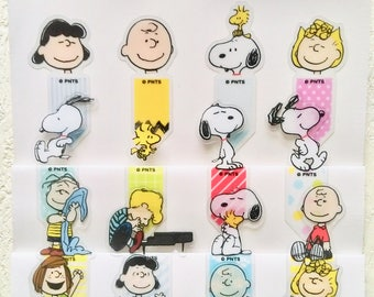 Snoopy index stickers, snoopy page markers, snoopy flags, snoopy tabs, snoopy sticky notes, snoopy stationery, peanuts family