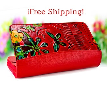 Gift|for|Girlfriend Girl's Wallet wallet|for|girl Gift for Her Red wallet Modern Wallet red gifts