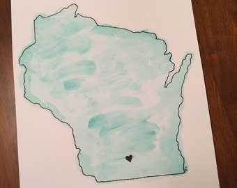 Watercolor Painting - Wisconsin