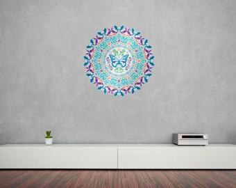 Butterfly Mandala Vinyl Wall Art