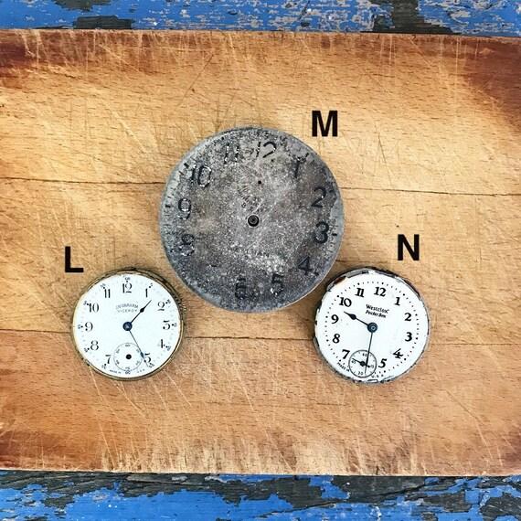 Vintage Pocket Watch Clock Face No Case No Glass Non-Working Parts
