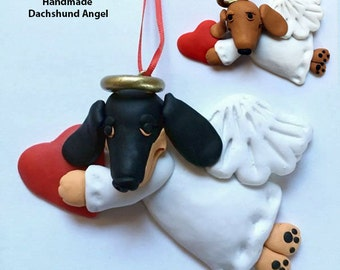Dachshund Angel Ornament Hand Made