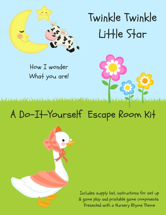 Twinkle twinkle nursery rhyme diy escape room kit gender te gusta este artculo solutioingenieria Gallery