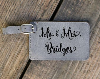 Mr And Mrs Luggage Tag Engraved Travel Accessories Personalized Bridal Party Luggage Tag Bridesmaid Luggage Tagag Couple Luggage Tag Travel