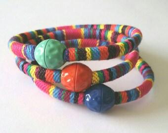 Unisex ethnic bracelet, ethnic rainbow bracelet, ethnic bracelet with color clasp, ethnic bracelet unisex Rainbow
