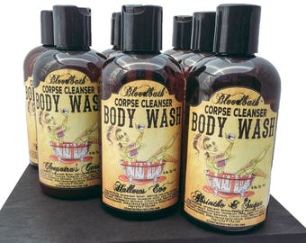 Absinthe and Sugar Vegan Body Wash Corpse Cleanser Shower Gel Bloodbath