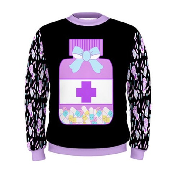 Medical Sweater, Pill Bottle Sweater, Sweater, Kawaii Sweater, Pastel Sweater