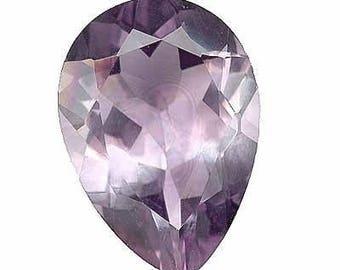 Genuine Amethyst 18x13mm Pear Shape