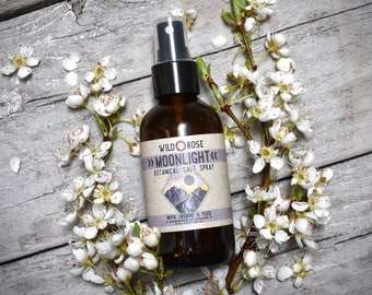 Natural Hair Perfume Spray - MOONLIGHT- Organic Aromatherapy Spray with Jasmine - 4oz//120ml