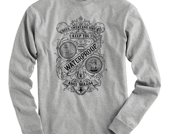 LS Beer Sweat and Dirt Tee - Long Sleeve T-shirt - Men S M L XL 2x 3x 4x - Craft Beer Shirt, Brewery - 4 Colors