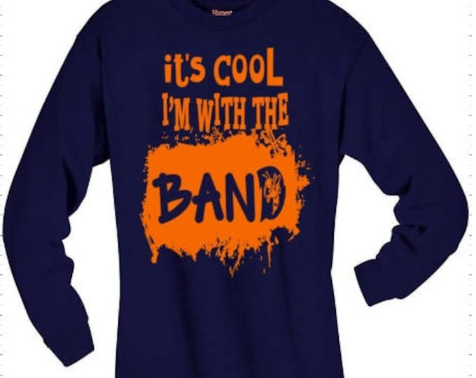 With the Band T-shirt Adult Yellow Jackets Football Unisex Cotton Ball Sports