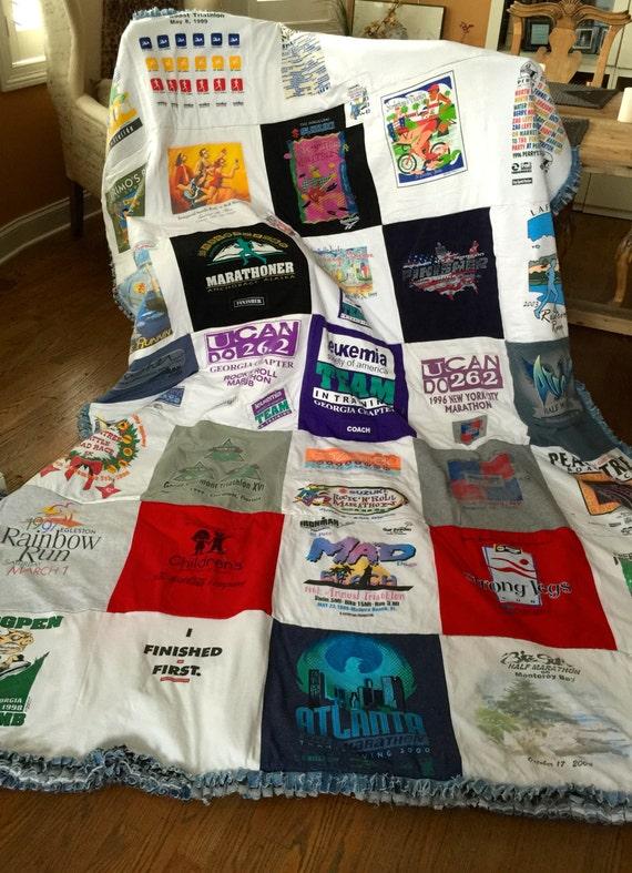 Custom Made T-Shirt Quilt Blanket Memory Blanket