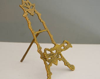 Brass Easel - Book Stand Plate Picture Holder