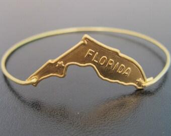 Florida Bracelet, State of Florida Jewelry, State Bracelet, State Jewelry, Florida Bangle