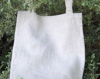 Linen Tote Bag, Market Bag