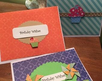 Birthday Cards Cupcake Theme