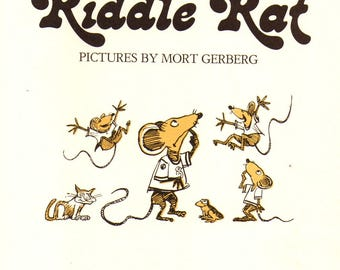 Riddle Rat has silly jokes for children and humorous illustrations teaches puns and word play