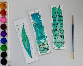 Custom Bundle - Watercolor Bookmarks (Set of 3)