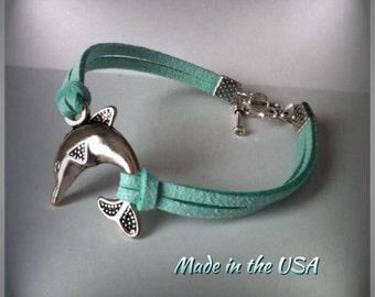 Dolphin bracelet, Charm bracelet, Friendship bracelet, Dainty charm, friendship gift, gift for her, i love dolphins, silver dolphin charm,