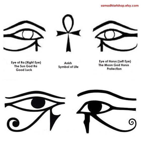 Egyptian Left Eye Of Horus Jidimakeup