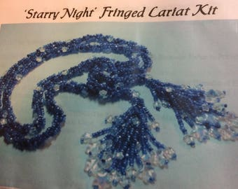 KIT: Starry Night Fringed Lariat Necklace Kit (Glass Bead Garden)