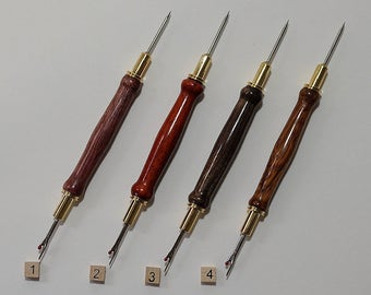 Seam Ripper & Stiletto, Free Shipping, 24k Gold Plated, Stiletto, Quilting, Sewing, Wood, Quilting Tool, Sewing Assistant, Special Gift