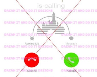 Disney SVG - Disney is calling