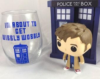 Wibbly Wobbly Timey Wimey Doctor Who Wine Glass