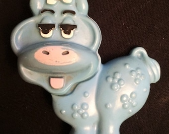 Avon 1973  Fragrance Glace blue cow pin