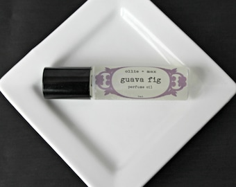 Guava Fig  Perfume Oil, 7ml Roll-On Bottle, Vegan Perfume,
