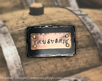 PERSONALIZED BELT BUCKLE Hand Forged by Naz - Iron , Copper & Brass - One of a Kind - Unique - Original Design  Hand Made Rugged Metal