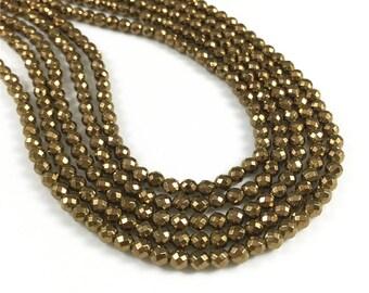 4mm Hematite Beads,Faceted Beads,Hematite Jewelry