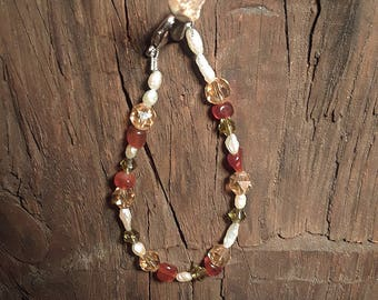 Red, Green and Gold Bracelet
