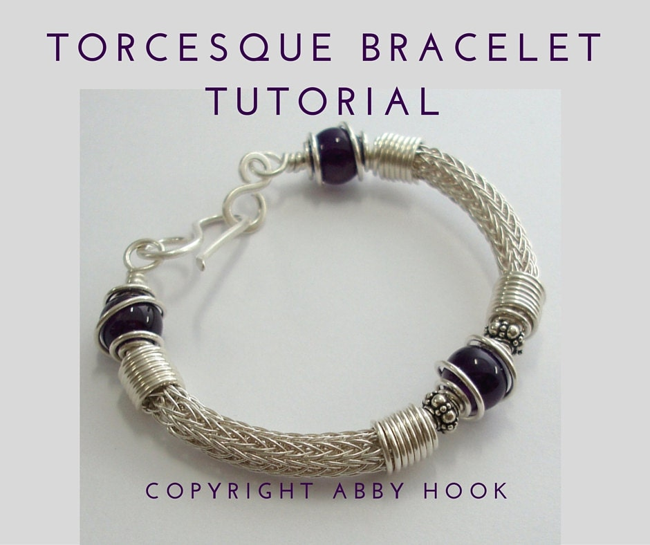 Torcesque Bracelet, Wire Jewelry Tutorial, PDF File instant download ...