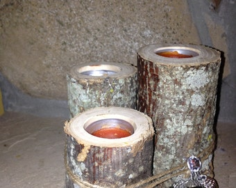 Candle Holders Natural Edge Tea Candle Holders