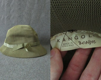 Vintage Kangol Design Spring Summer Knitted Bucket Panama Cloche Hat Made in England