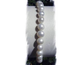 CULTURED pearls and 925 sterling silver BRACELET