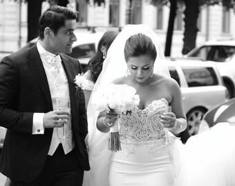 Custom Made Wedding Dress, Unique Bridal Dress, designer wedding dresses, Unique Wedding Dress