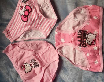 set of three girl panties