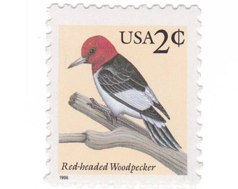 1996 2c Red-Headed Woodpecker - 10 Unused Postage Stamps - Item No. 3032