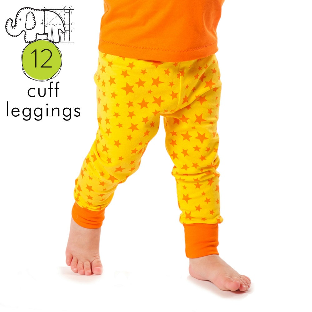Baby leggings pdf pattern with cuffs // photo tutorial //